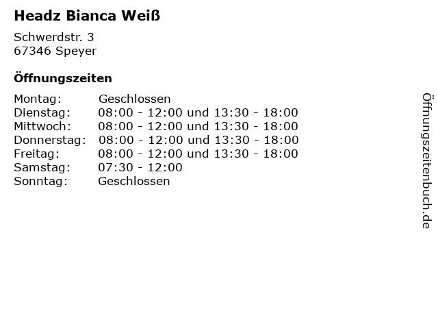 Headz Bianca Weiß in Speyer: Adresse und Öffnungszeiten