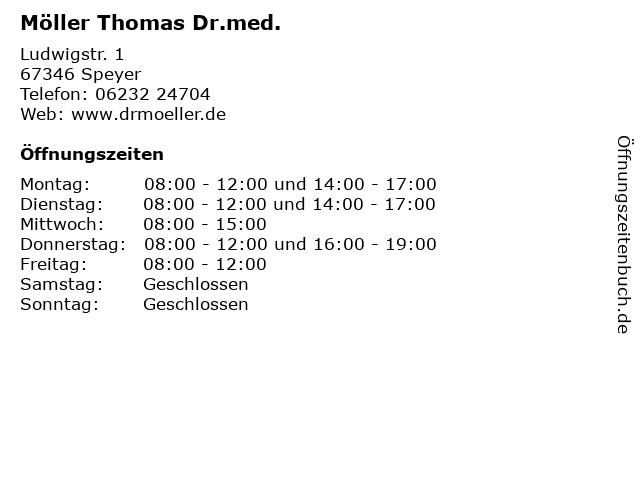 Möller Thomas Dr.med. in Speyer: Adresse und Öffnungszeiten