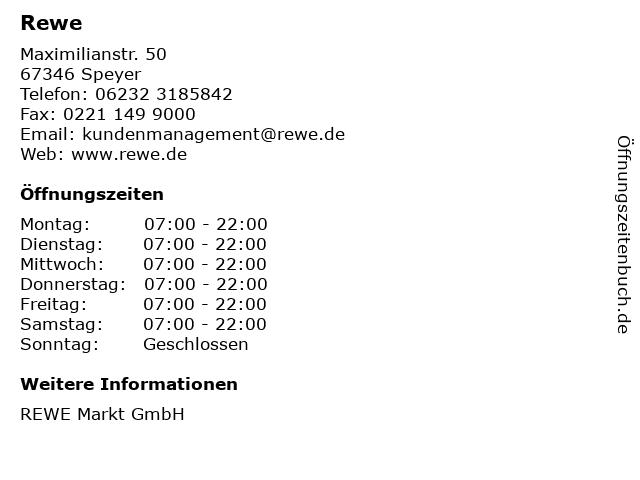 Rewe in Speyer: Adresse und Öffnungszeiten