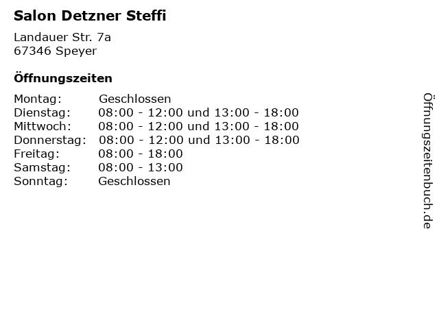 Salon Detzner Steffi in Speyer: Adresse und Öffnungszeiten