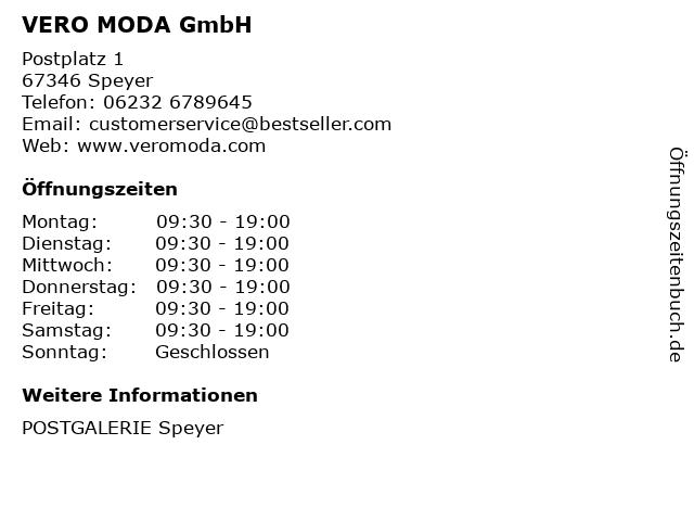 VERO MODA GmbH in Speyer: Adresse und Öffnungszeiten