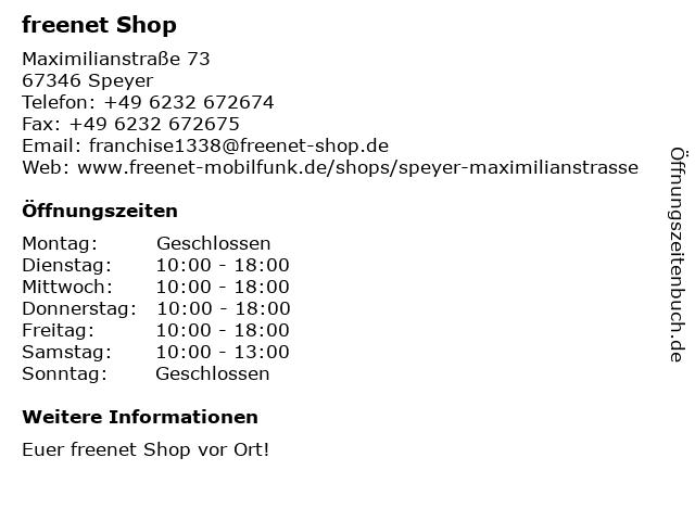 mobilcom-debitel in Speyer: Adresse und Öffnungszeiten