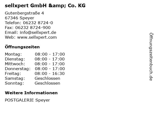 sellxpert GmbH & Co. KG in Speyer: Adresse und Öffnungszeiten