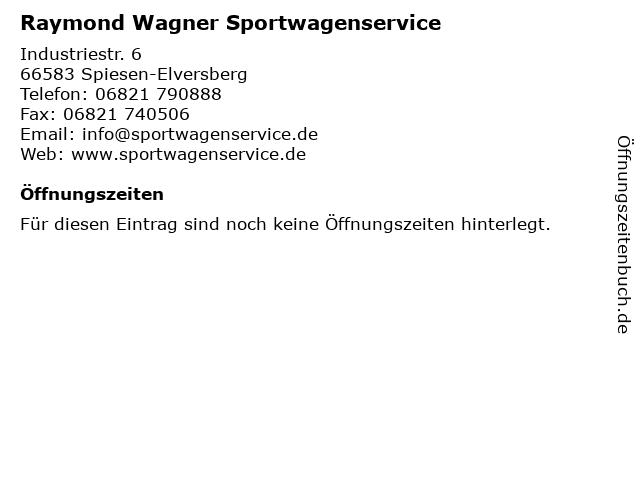 Raymond Wagner Sportwagenservice in Spiesen-Elversberg: Adresse und Öffnungszeiten