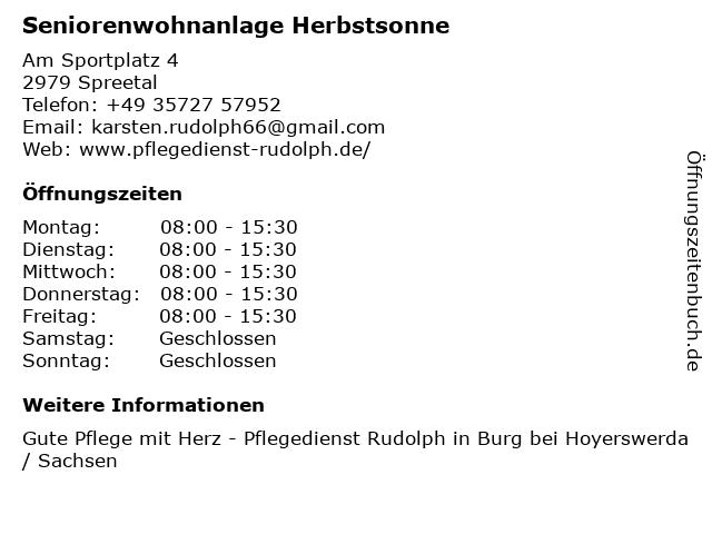 Seniorenwohnanlagen Karsten Rudolph in Spreetal: Adresse und Öffnungszeiten