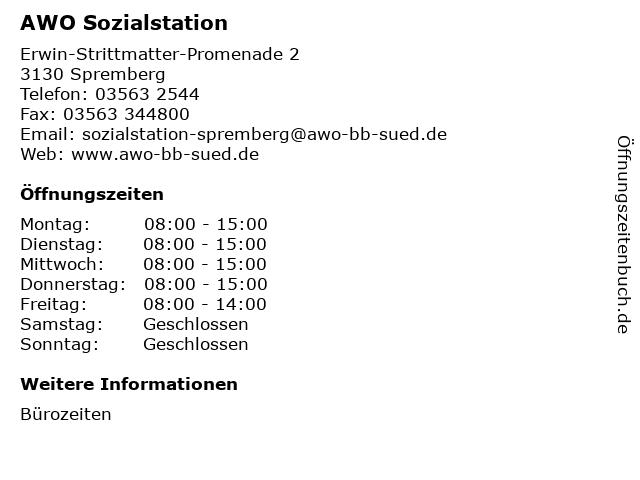 AWO Sozialstation in Spremberg: Adresse und Öffnungszeiten