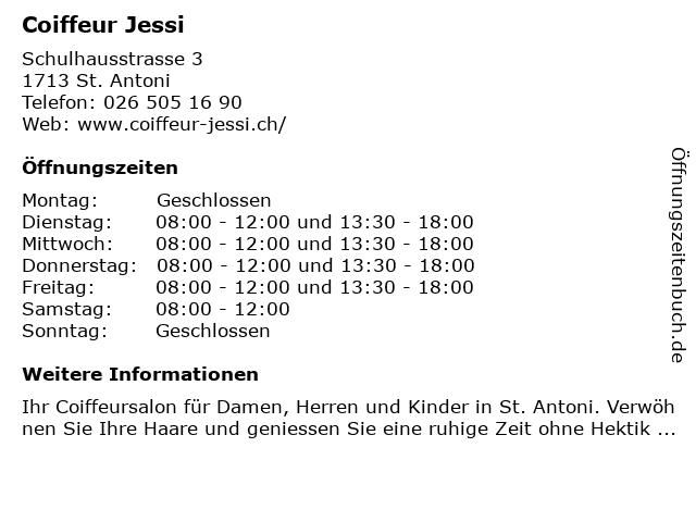 Coiffeur Jessi in St. Antoni: Adresse und Öffnungszeiten