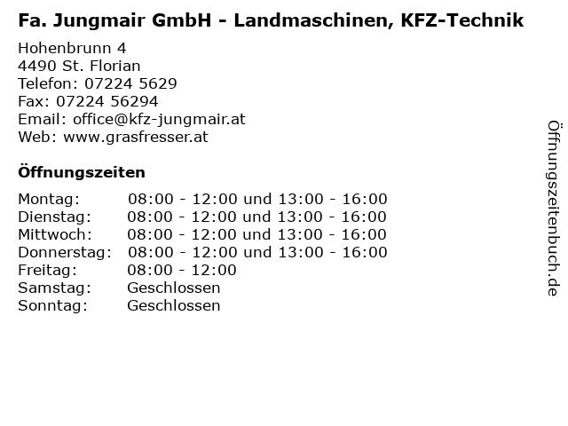 Fa. Jungmair GmbH - Landmaschinen, KFZ-Technik in St. Florian: Adresse und Öffnungszeiten