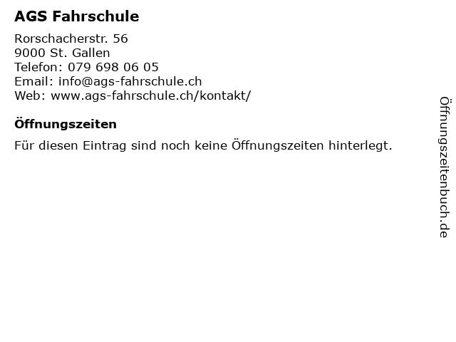 AGS Fahrschule in St. Gallen: Adresse und Öffnungszeiten