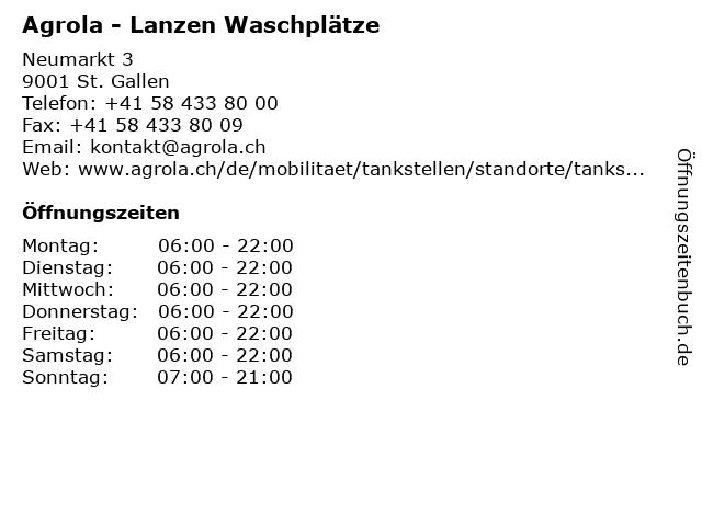 Agrola - Lanzen Waschplätze in St. Gallen: Adresse und Öffnungszeiten