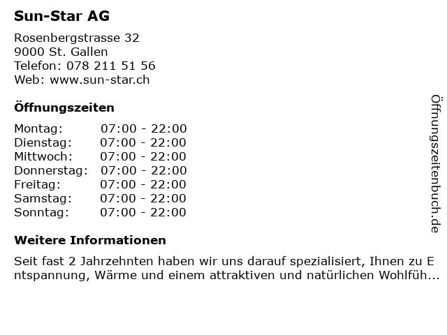 Sun-Star AG in St. Gallen: Adresse und Öffnungszeiten