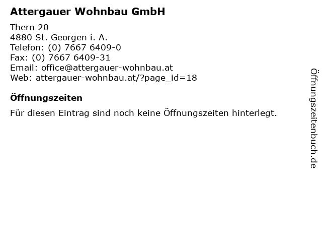 Attergauer Wohnbau GmbH in St. Georgen i. A.: Adresse und Öffnungszeiten