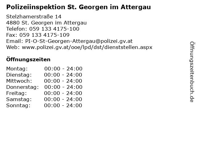 Polizeiinspektion St. Georgen im Attergau in St. Georgen im Attergau: Adresse und Öffnungszeiten