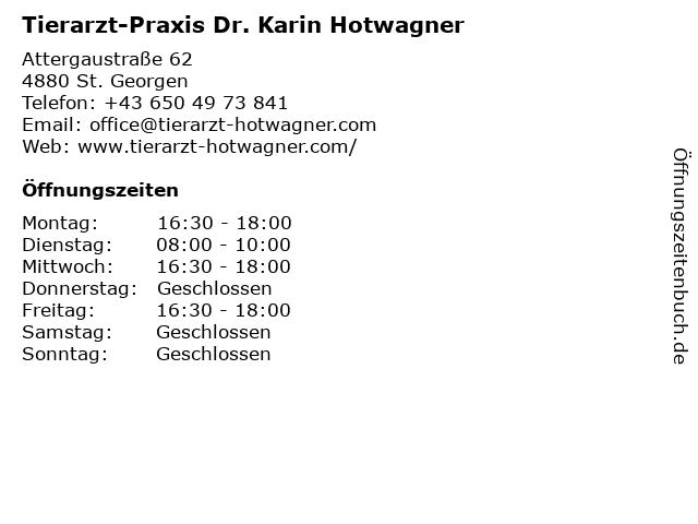 Tierarzt-Praxis Dr. Karin Hotwagner in St. Georgen: Adresse und Öffnungszeiten