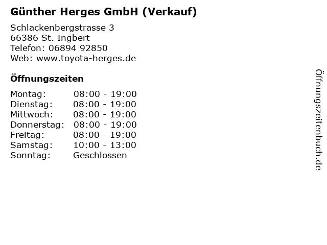 Günther Herges GmbH (Verkauf) in St. Ingbert: Adresse und Öffnungszeiten