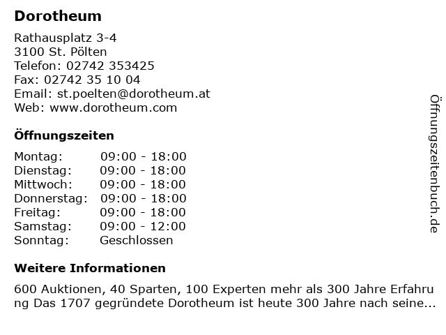 Dorotheum in St. Pölten: Adresse und Öffnungszeiten