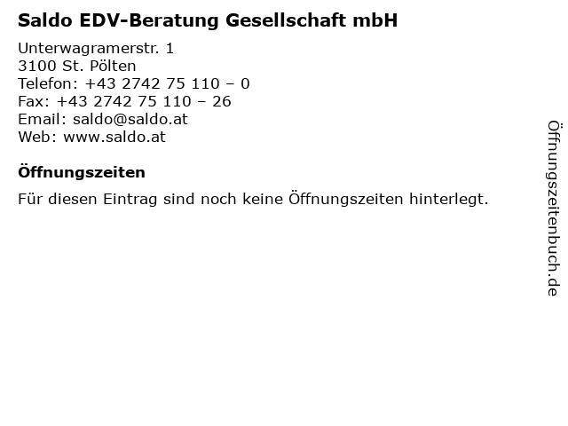 Saldo EDV-Beratung Gesellschaft mbH in St. Pölten: Adresse und Öffnungszeiten