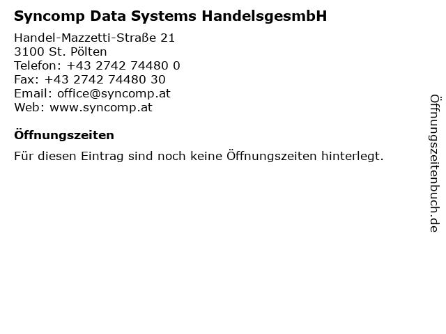 Syncomp Data Systems HandelsgesmbH in St. Pölten: Adresse und Öffnungszeiten