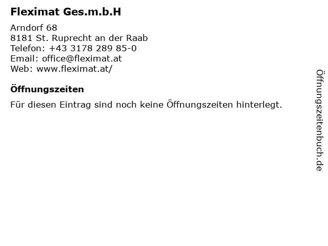 Fleximat Ges.m.b.H in St. Ruprecht an der Raab: Adresse und Öffnungszeiten