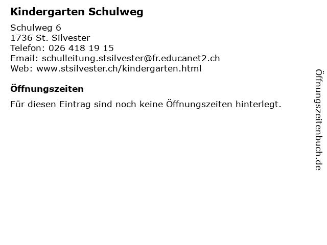 Kindergarten Schulweg in St. Silvester: Adresse und Öffnungszeiten