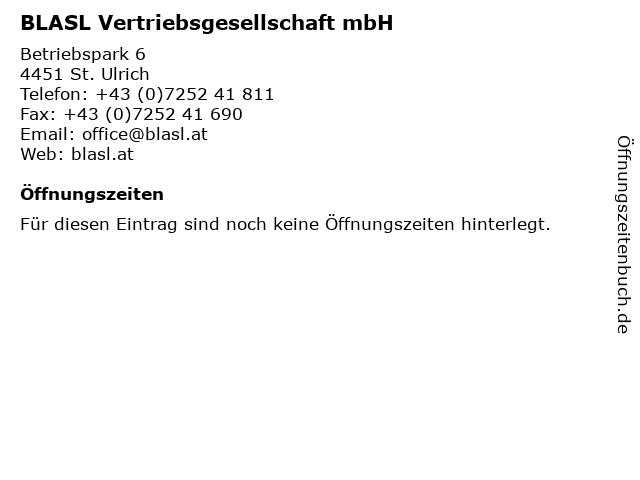 BLASL Vertriebsgesellschaft mbH in St. Ulrich: Adresse und Öffnungszeiten