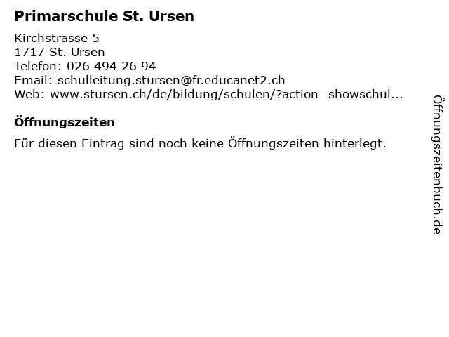 Primarschule St. Ursen in St. Ursen: Adresse und Öffnungszeiten