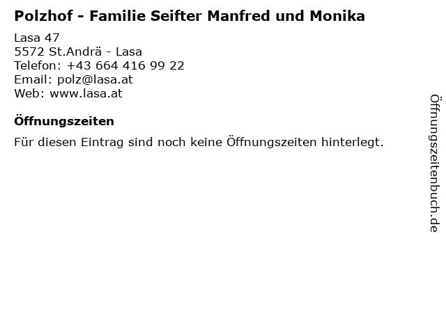 Polzhof - Familie Seifter Manfred und Monika in St.Andrä - Lasa: Adresse und Öffnungszeiten