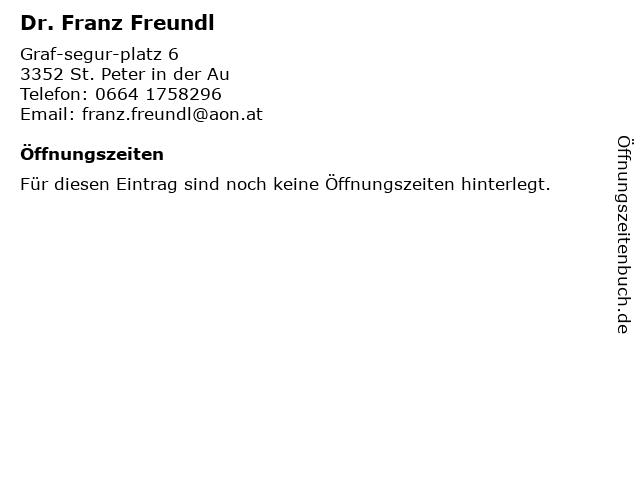 Internist Praxis Dr. Franz Freundl in St.Peter: Adresse und Öffnungszeiten