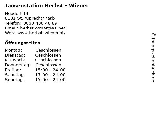 Jausenstation Herbst - Wiener in St.Ruprecht/Raab: Adresse und Öffnungszeiten