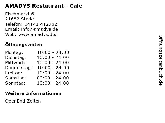 ᐅ Offnungszeiten Amadys Restaurant Cafe Fischmarkt 6