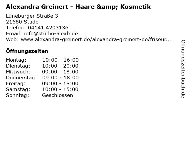 Alexandra Greinert - Haare & Kosmetik in Stade: Adresse und Öffnungszeiten
