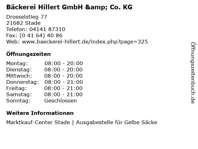 Bäckerei Hillert GmbH & Co. KG in Stade: Adresse und Öffnungszeiten