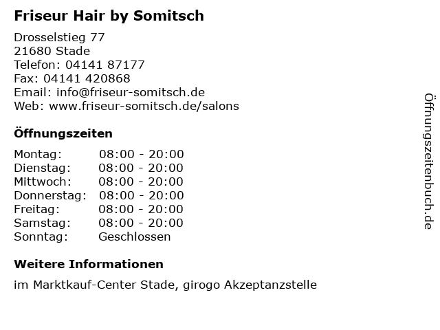 Friseur Hair by Somitsch in Stade: Adresse und Öffnungszeiten