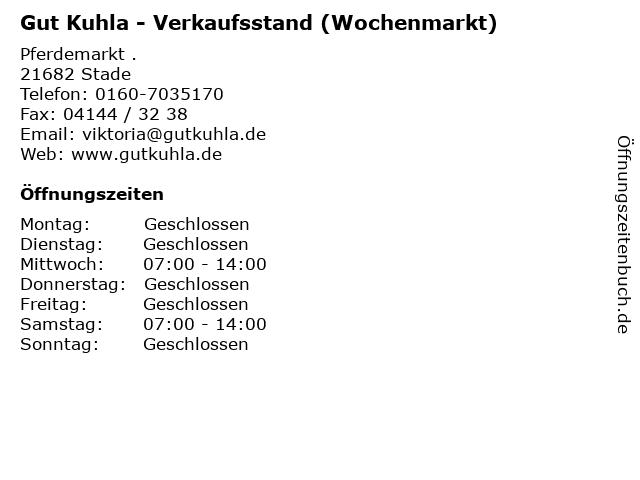 Gut Kuhla - Verkaufsstand (Wochenmarkt) in Stade: Adresse und Öffnungszeiten