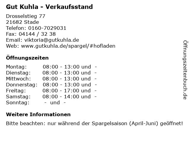 Gut Kuhla - Verkaufsstand in Stade: Adresse und Öffnungszeiten