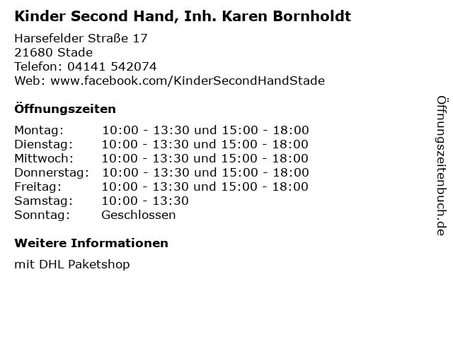 Kinder Second Hand, Inh. Karen Bornholdt in Stade: Adresse und Öffnungszeiten