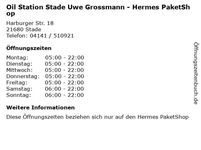 Oil Station Stade Uwe Grossmann - Hermes PaketShop in Stade: Adresse und Öffnungszeiten