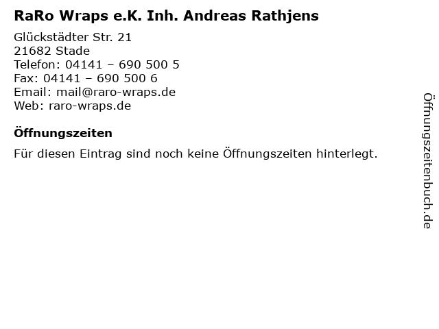 RaRo Wraps e.K. Inh. Andreas Rathjens in Stade: Adresse und Öffnungszeiten