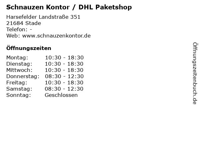 Schnauzen Kontor / DHL Paketshop in Stade: Adresse und Öffnungszeiten
