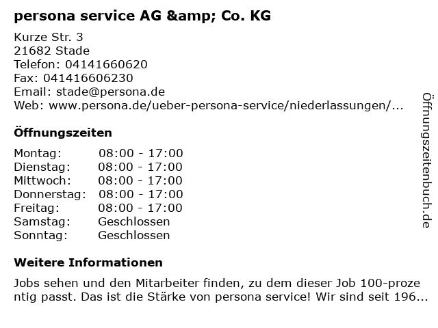 persona service AG & Co. KG in Stade: Adresse und Öffnungszeiten