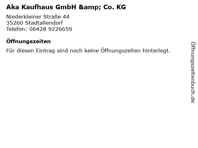 Aka Kaufhaus GmbH & Co. KG in Stadtallendorf: Adresse und Öffnungszeiten