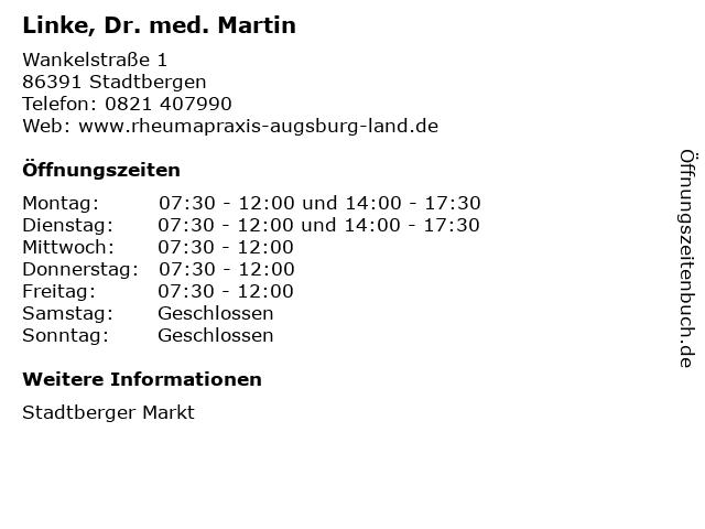 Linke, Dr. med. Martin in Stadtbergen: Adresse und Öffnungszeiten
