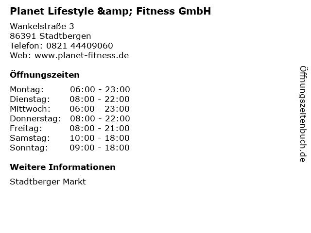 Planet Lifestyle & Fitness GmbH in Stadtbergen: Adresse und Öffnungszeiten