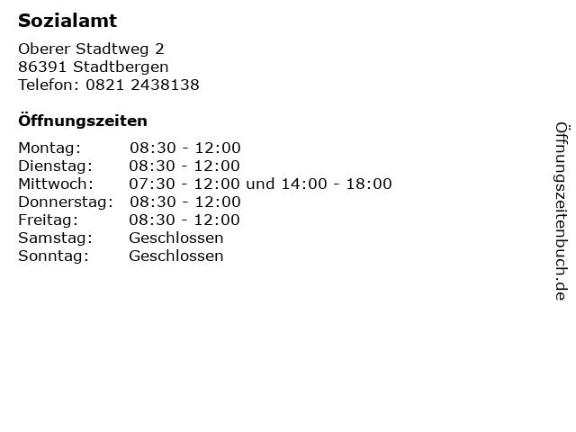 Sozialamt in Stadtbergen: Adresse und Öffnungszeiten