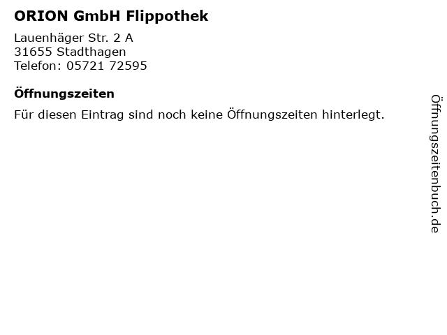 ORION GmbH Flippothek in Stadthagen: Adresse und Öffnungszeiten