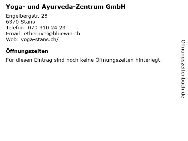 Yoga- und Ayurveda-Zentrum GmbH in Stans: Adresse und Öffnungszeiten