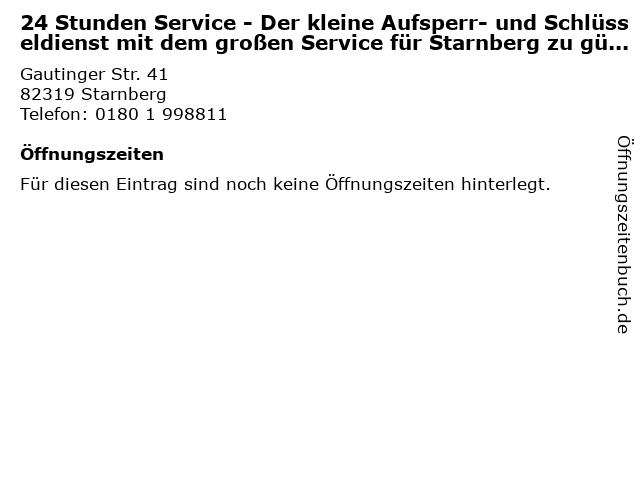 24 Stunden Service - Der kleine Aufsperr- und Schlüsseldienst mit dem großen Service für Starnberg zu günstigen Preisen - Schlüsselnotdienst in Starnberg: Adresse und Öffnungszeiten