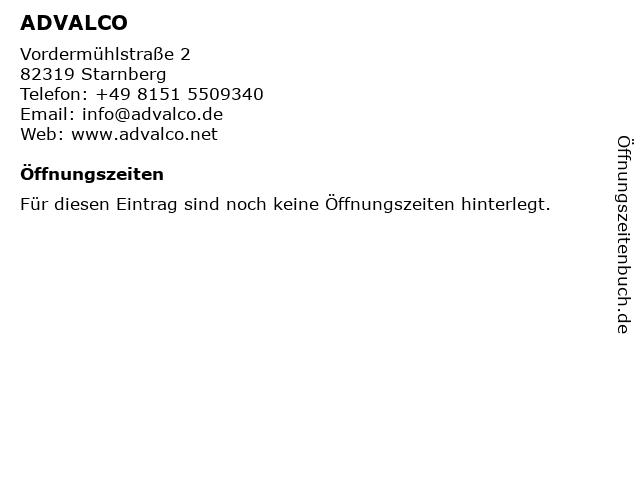 ADVALCO in Starnberg: Adresse und Öffnungszeiten