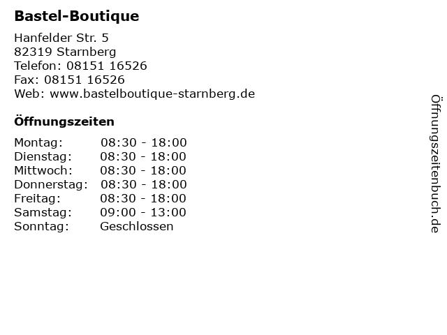 Bastel-Boutique in Starnberg: Adresse und Öffnungszeiten