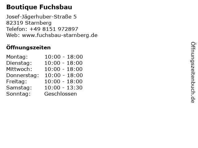 Boutique Fuchsbau in Starnberg: Adresse und Öffnungszeiten